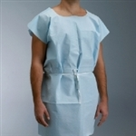 "Exam Gowns; Disposable TPT; Blue, 30"" x 42"" (50/case)"