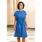 "Exam Gowns; Disposable non-woven; Blue, 30"" x 42"" (50/case)"