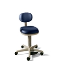 Midmark 427 Air Lift Physician Stool (Foot Operated) Basic Stool w/ Seat Cushion