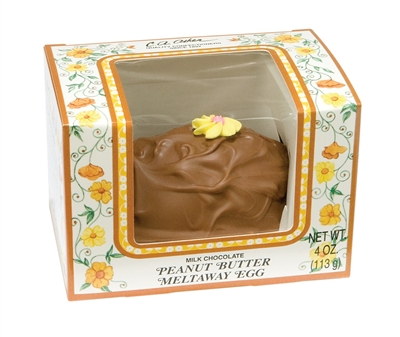 4 oz Peanut Butter Meltaway Egg | Milk Chocolate