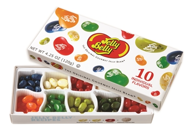 Jelly Belly 10 Assorted Flavored Jelly Beans Box