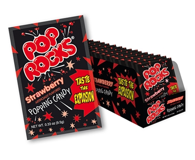 Pop Rocks Strawberry - 24 Count Box