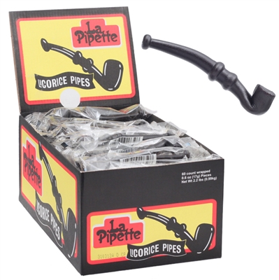 Licorice Pipes - 60 Count Box