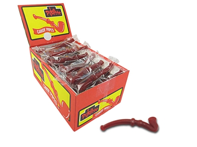 Red Licorice Pipes - 60 Count Box