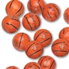Foiled Milk Chocolate Basketballs - 1 LB Bag