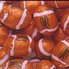 Foiled Milk Chocolate Footballs - 1 LB Bag