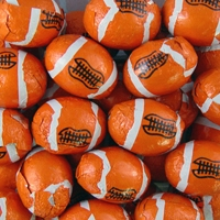 Foiled Milk Chocolate Footballs - 5 lb Bag