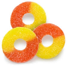 Gummi Peach Rings - 1 LB Bag