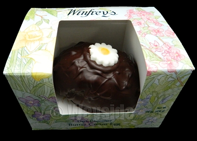 16 oz Vanilla Buttercream Egg | Dark Chocolate