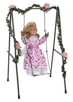 Byers' Choice Caroler - Toddler Girl on Swing