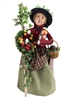 Byers' Choice Caroler - Cry with Holiday Greens