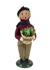 Byers' Choice Caroler - Boy with Holiday Greens