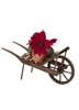 Byers' Choice Caroler - Poinsettia Wheelbarrow