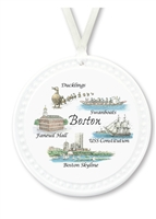Barlow Designs - Boston Collage Ornament