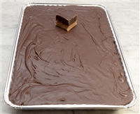 Peanut Butter and Chocolate Layer Fudge 5 LB Tray