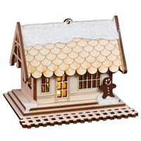 Old World Christmas-Ginger Cottages - Train Depot