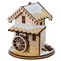 Old World Christmas-Ginger Cottages - Gingerman Grist Mill
