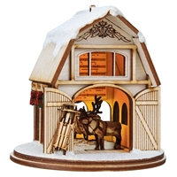 Old World Christmas-Ginger Cottages - Santa's Reindeer Barn