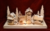 Old World Christmas-Ginger Cottages - Alpine Grove Mantle Display