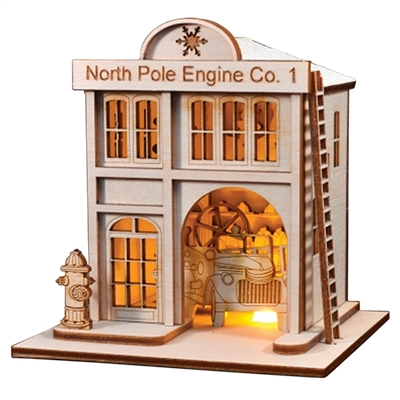 Old World Christmas-Ginger Cottages - North Pole Engine Co. #1 Firehouse