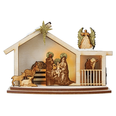 Old World Christmas-Ginger Cottages - Ginger Nativity