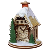 Old World Christmas-Ginger Cottages - Alpine Time Clock Shoppe