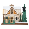 Old World Christmas-Ginger Cottages - Santa Ski Lodge