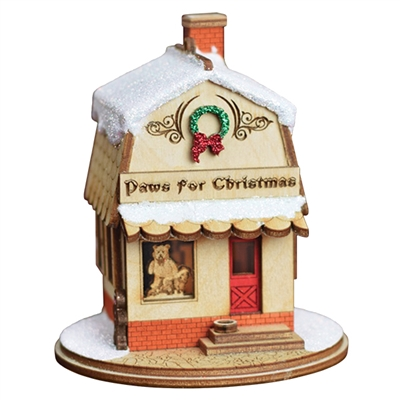 Old World Christmas-Ginger Cottages Paws For Christmas Pet Shop