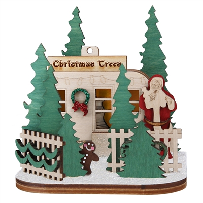 Old World Christmas-Ginger Cottages - Christmas Tree Lot