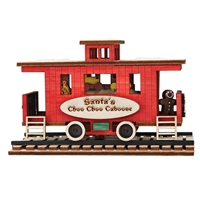 Old World Christmas-Ginger Cottages - Santa's Caboose (illuminated)