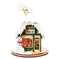Old World Christmas-Ginger Cottages - Santa's Snowflake Factory