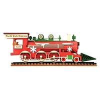 Old World Christmas-Ginger Cottages - Santa's Steam Engine