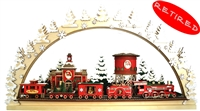 Old World Christmas-Cottages - Santa's North Pole Express Schwibboggen Masterpiece