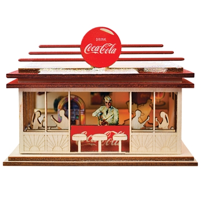 Old World Christmas-Ginger Cottages - Coca-Cola - Soda Shop