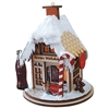 Old World Christmas-Ginger Cottages - Coca-Cola - Santa's Worshop