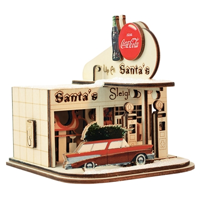 Old World Christmas-Ginger Cottages - Coca-Cola - Gas Station