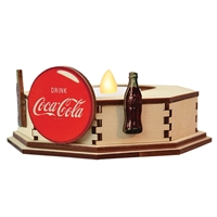 Old World Christmas-Ginger Cottages - Coca-Cola - Single Tealight Display