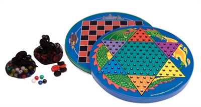 Tin Chinese Checkers & Checkers