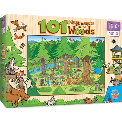 Puzzle - 101 THINGS TO SPOT IN THE WOODS