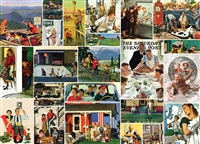 Puzzle - SATURDAY EVENING POST - Family Time Collage 1000 Piece Jigsaw Puzzle