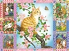 Puzzle - Blossom and Kittens Quilt