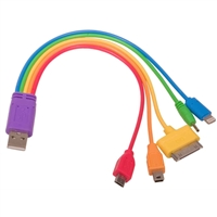 5 in 1 Rainbow Charger Cable
