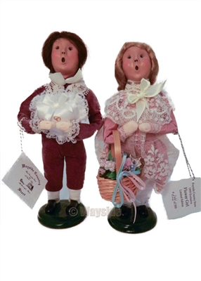 Byers' Choice Secondary Market Ring Bearer Flower Girl #244/300 (1999)
