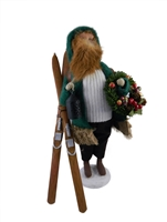 Byers' Choice Secondary Market Santa with Skis - Signed