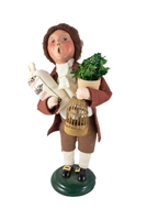 2003 Byers' Choice Secondary Market Colonial Boy with Bird Williamsburg