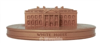 Sebastian Miniatures Secondary Market White House (Gold Color) Limited Editon #43/250, Signed by Woody Baston 6-13-1987
