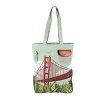 Tote - Embroidered Golden Gate Bridge