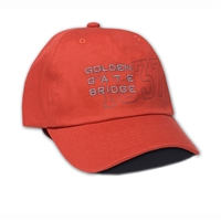 Baseball Cap - Golden Gate Bridge - Orange