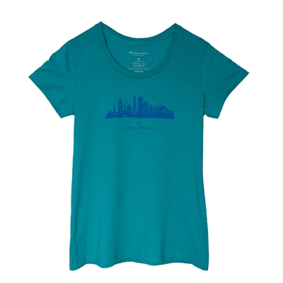 T-Shirt - Womens San Francisco Skyline