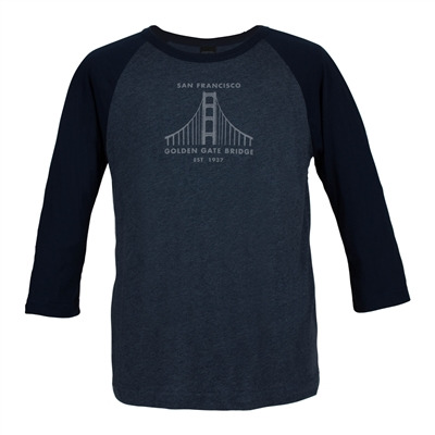 T-Shirt - Golden Gate Bridge Raglan
